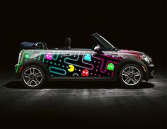 Space Invaders and Pac-Man Mini Cooper Art Cars Pac Man, Nascar, Retro Arcade Games, Car Paint Jobs, Mini Copper, Pt Cruiser, Space Invaders, Bmw, Volkswagen
