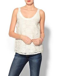 A good lace top is hard to find but I think this one strikes the right balance. $59.00 Rhyme Los Angeles Birdie Eyelet Tank | Piperlime