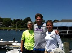 2008 Olympian Amanda Clark about to take sailing two Marathon Gold Medalists,  Jaon Benoit Samuelson & Keith Brantly at SIYC