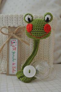 Crochet Sujeta chupete Rana ༺✿ƬⱤღ✿༻