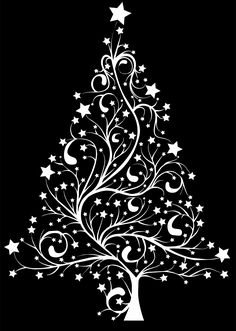 Starry Christmas Tree by @GDJ, From Pixabay. Background is easily removable or you can download one I've already removed., on @openclipart