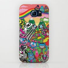 """I love to watch my illustration turn into usable art. Visit Plushism in Society6 for more gift ideas. """"Aliens invasion to Plushism land"""". This is for Samsung Galaxy S7. With love. :-)"""