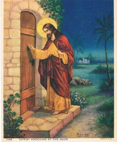 Items similar to Christ Knocking at the Door Calendar Art Print on Etsy Pictures Of Jesus Christ, Religious Pictures, Religious Art, Holi Pictures, Church Icon, Our Father In Heaven, Spiritual Images, Prophetic Art, Jesus Art