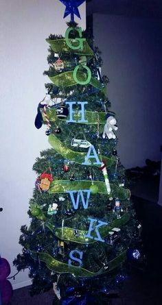 Seattle Seahawks Christmas Ornaments, Stocking, Tree Topper ...