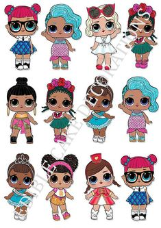 Decorations & Cake Toppers Home, Furniture & DIY 6th Birthday Parties, Birthday Diy, Birthday Cake, 3d Templates, Happy Birthday Candles, Doll Party, Colorful Animals, Lol Dolls, Kawaii Drawings