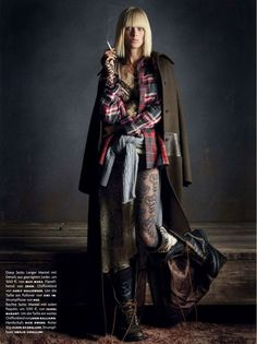 Rebel Romance | Carolyn Murphy | Daniele & Iango #photography | Vogue Germany December 2012