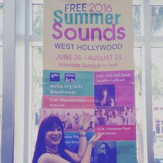 @jenniferleitham dropped by @wehocity to check out the space for her free concert on 6/26 as part of #onecityonepride and #summersounds. She'll also be performing with #trans #chorus #la today at the #lapride festival at 7pm