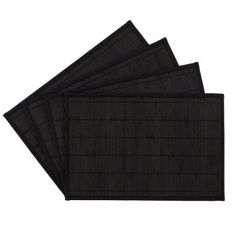 Amazon.com: Benson Mills Bali Bamboo Placemats, Black, Set of 4: Home & Kitchen
