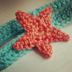 crochet starfish headband