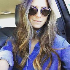 224f54d1b5c20 Dior So Real Brow Bar Sunglasses, Dark Blue   Spotted on  somethingnavy Bar  Brow