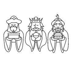 Imágenes de los tres Reyes Magos