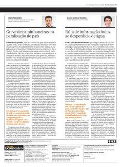 Título: Falta de informação induz ao desperdício de água. Veículo: jornal Brasil Econômico. Data: 26/02/2015. Cliente: CAS Tecnologia.