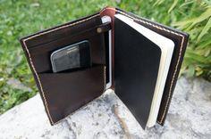 Ipad Mini cover and Large Moleskine case dark von GalenLeather - etsy