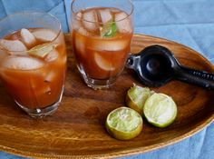 Bloody Marys while cooking Thanksgiving morning is a great tradition.  Use tequila!