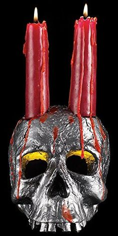 Scare the living soul out of your guests with this Spooky Halloween Skull Candle set. Set includes a polyresin skull candle holder and blood-red drip candles. Halloween Ghost Decorations, Halloween Candles, Halloween Skull, Scary Cat, Spooky Scary, Metal Candle Holders, Candle Set, Drip Candles, Halloween Bedroom
