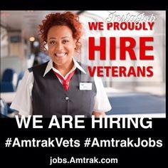 Careers for U.S. Veterans at #Amtrak at jobs.Amtrak.com