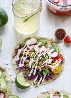 beer braised chipotle chicken tacos