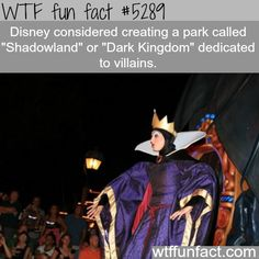 Disney's considering creating a park that is dedicated to villains? - WOW! Jus WOW!  ~WTF! weird & fun facts