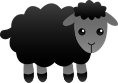clip art of black sheep - Bing Images Baa Baa Black Sheep Crafts, Black Sheep Tattoo, Black Sheep Of The Family, Origami Frog, Rabbit Drawing, Free Clipart Images, Work With Animals, Clip Art, Quilts