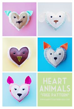 Free Heart Animals Pattern | happy together