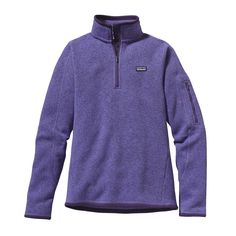 Patagonia Women's Better Sweater 1/4-Zip - A 1/4-zip pullover sweater that combines the aesthetic of wool with the easy care of polyester fleece.