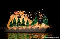 Newport Beach Christmas boat