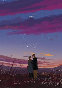 이미지 art anim в 2019 г. art, illustration art и anime art. Cute Couple Art, Anime Love Couple, Art And Illustration, Fantasy Kunst, Fantasy Art, Aesthetic Art, Aesthetic Anime, Stock Design, Cover Wattpad