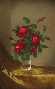 Martin Johnson Heade - Cluster of Roses in a Glass offered by Debra Force Fine Art on InCollect Hudson River School Paintings, Martin Johnson Heade, Winslow Homer, Minimalist Art, Oil On Canvas, Mixed Media, Artsy, Apple, Fine Art