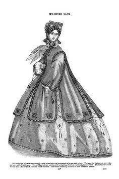 Walking Sack ~ Godey's Lady's Book, February 1864 | Flickr - Photo Sharing!