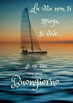 Buongiorno Good Morning Good Night, Good Day, Italian Life, Christmas Images, Life Quotes, Cinema, Happy, Design, Frases