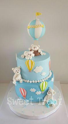 Boys First Birthday Cake, First Birthday Party Themes, Baby Birthday Cakes, Baby Girl Cakes, Baby Shower Balloons, Baby Shower Cakes, Baby Boy Shower, Christening Cake Boy, Pasta