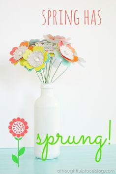 DiY Spring Flowers Bouquet