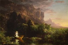 The silence - Thomas Cole (1801-1848) - The Voyage of Life,...