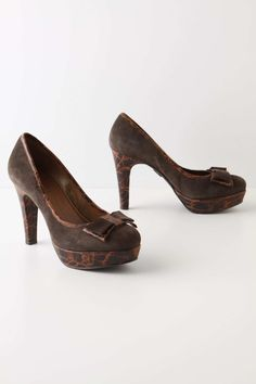 Anthropologie - Miss Albright's Tegu Platforms - Subtle scale-embossed suede slithers into an alluring shape