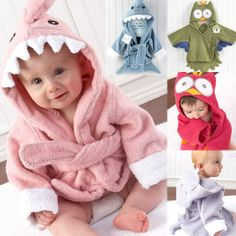 Hot!Retail boy girl Animal Baby bathrobe/baby hooded bath towel/kids bath terry children infant bathing/baby robe HoneyBaby HB28-inTowels from Home & Garden on Aliexpress.com