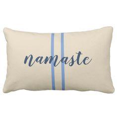 Namaste Phrase Farmhouse Style Accent Pillow