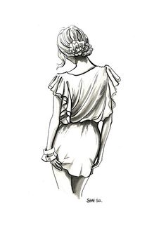 Fashion illustration pencil simple new Ideas Pencil Art Drawings, Art Drawings Sketches, Cute Drawings, Sketch Drawing, Hipster Drawings, Fashion Drawings, Fashion Sketches, Illustration Mode, Illustration Fashion