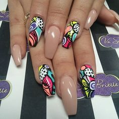Coffin nails @KortenStEiN Nail Design, Nail Art, Nail Salon, Irvine, Newport Beach