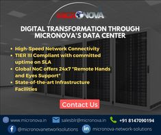 Micronova's Data Centre was established to provide a reliable, well networked, and well-managed carrier-neutral Data Centre Infrastructure Services. Micronova DC is Tier III compliant Data Center that offers the most aggressive SLA to support and scale your business to new heights. to know more visit our website www.micronova.in. For queries, email us at salesblr@micronova.in. #datacentre #colocation #networking #infrastructure #tier3 #cybersecuirty #micronova #IT #informationtechnology Data Center Infrastructure, Data Center Design, Rack Solutions, Class Tools, Fire Suppression System, Power Backup, Cloud Data, Server Room, Network Solutions