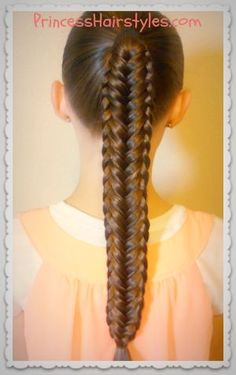 Hairstyles For Girls - Hair Styles - Braiding - Princess Hairstyles #Hair-Beauty
