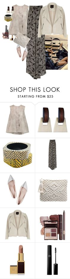 """Senza titolo #1097"" by claire86-c ❤ liked on Polyvore featuring Giambattista Valli, DANNIJO, MANGO, Johanna Ortiz, River Island, Tom Ford, girlstrip and WineTastingOutfit"