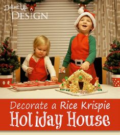 Rice Krispies House For The Holidays - a delicious variation of a gingerbread house for Christmas