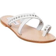 Women's Steve Madden Becky Toe Loop Sandal, Adult Women's, Size: 8.5 M, White Leather
