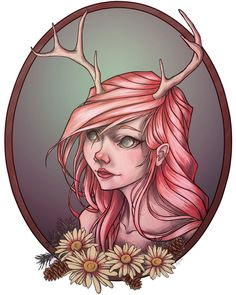 Portrait of a Deer--Winterier Lionheart