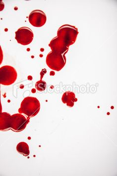 Fresh Blood Droplets Red on White Background 2 Abstract, Artwork, Red, Dexter, Blood, Tips And Tricks, White Clothing, Lift Off, Stains