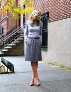 Grey Work Outfits for Young Women