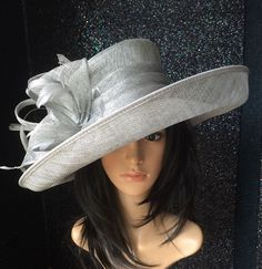 9fe3a348023 FAILSWORTH SILVER GREY ASCOT WEDDING HAT OCCASION MOTHER OF THE BRIDE