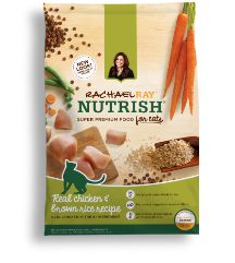Real Chicken & Veggies natural cat food is just that -- naturally made with real chicken. Learn more about where you can buy Rachael Ray Nutrish cat food.