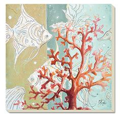 CounterArt Coral and Fish Absorbent Coasters Set of 4 -- Want to know more, click on the image. (Note:Amazon affiliate link)