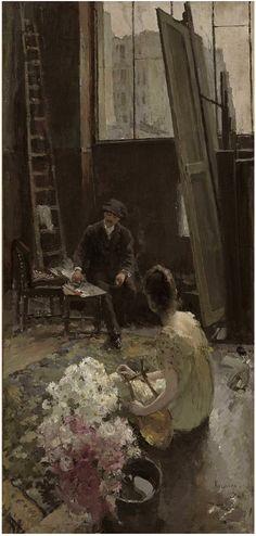 Konstantin Korovin, In the artist's studio